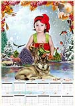 تقویم لایه باز 1400 طرح کودک و طبیعت پنج